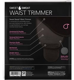 Sweet Sweat Waist Trimmer Pink - L