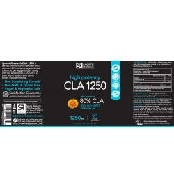 CLA 80% 1250mg (90 veggie softgels)