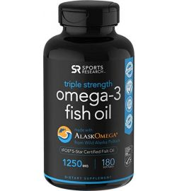 Omega-3 Fish Oil AlaskaOmega 1250mg (180 softgels)