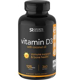 Vitamin D3 5000iu (360 softgels)